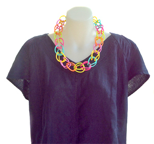 Necklace | Weave | Coloured | Hand Woven | Silicone | Short