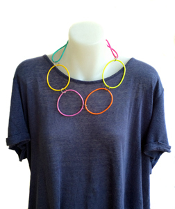 Necklace | Circles | Coloured | Silicone | Short