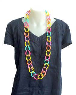 Necklace | Weave | Coloured | Hand Woven | Silicone | Medium