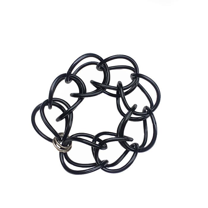 *Best Seller*   Bracelet   Weave   Black   Hand Woven   Silicone  