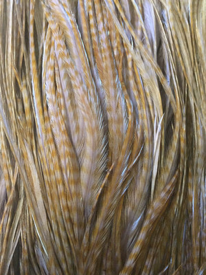 Dyed Barred Ginger Saddle