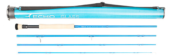 Echo bad ass glass fly rod with case
