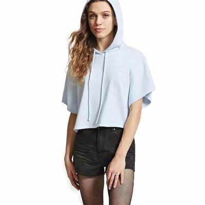 Women Short Sleeve Hoodie T-shirt