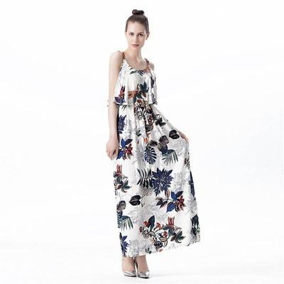 Printing Flounce Women Dress
