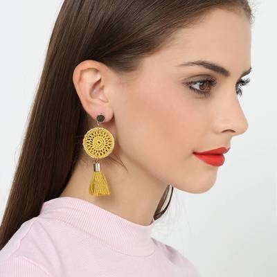 Manual Knitting Tassels Earring
