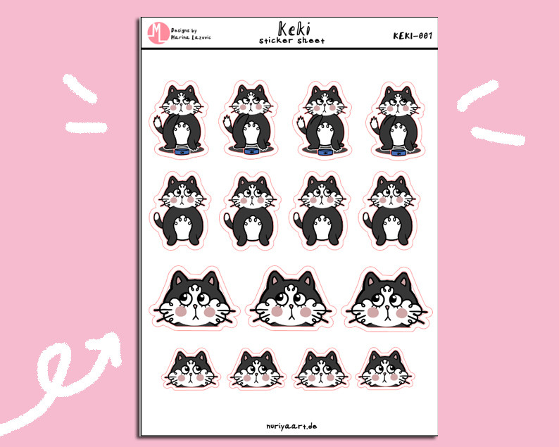 Keki Stickersheet - Cute