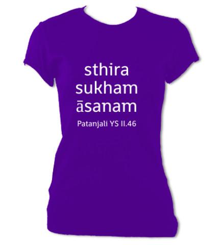 Sthira Sukham Asanam T-Shirt (Women's) -   free shipping!