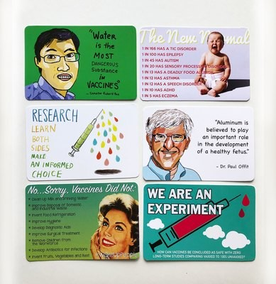 Vaccine Risk Postcard Set - All 7 designs