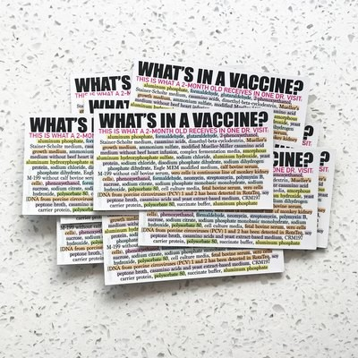What's In a Vaccine? Magnets - 20 qty.