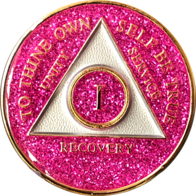Pink Glitter Medallion Years 1-5