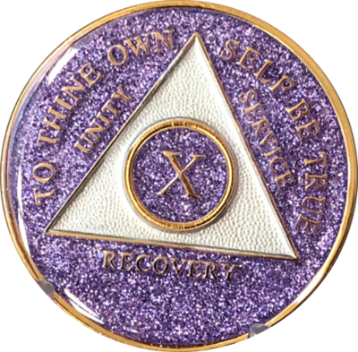 Purple Glitter Medallion Years 1-5