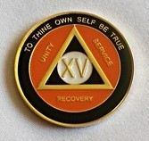 Black and Orange Triplate Medallion Years 1-25