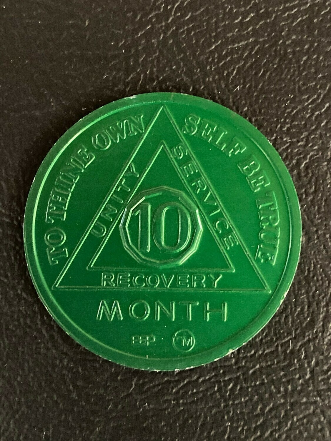 10 month aluminum medallion