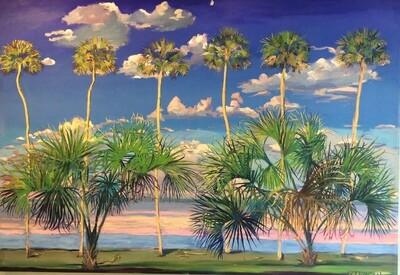 """Peter Carolin, """"Dancing Salsa Palms"""" 00380"""