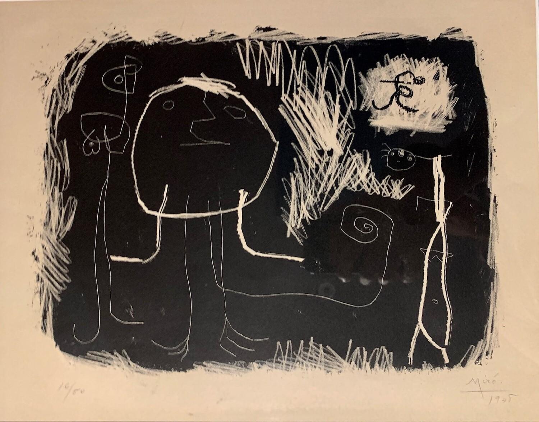 Joan Miro - Personnage dans le Soleil