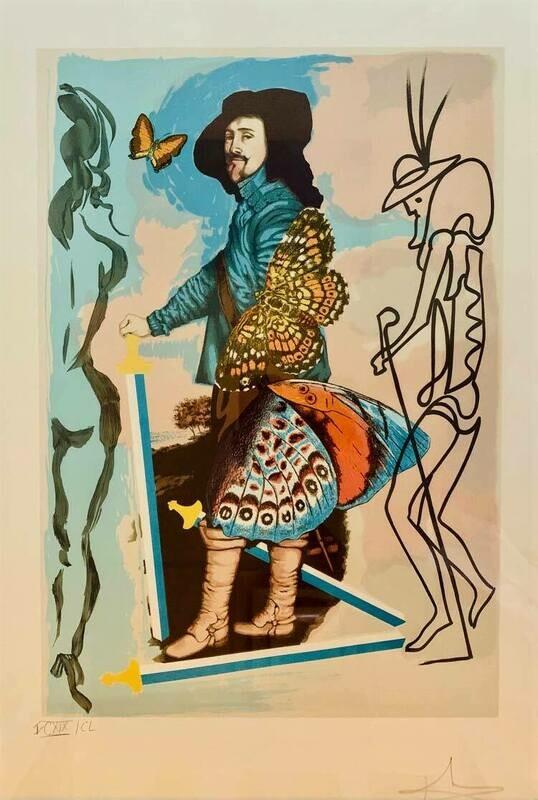 Salvador Dali - Papillon IV Courtier