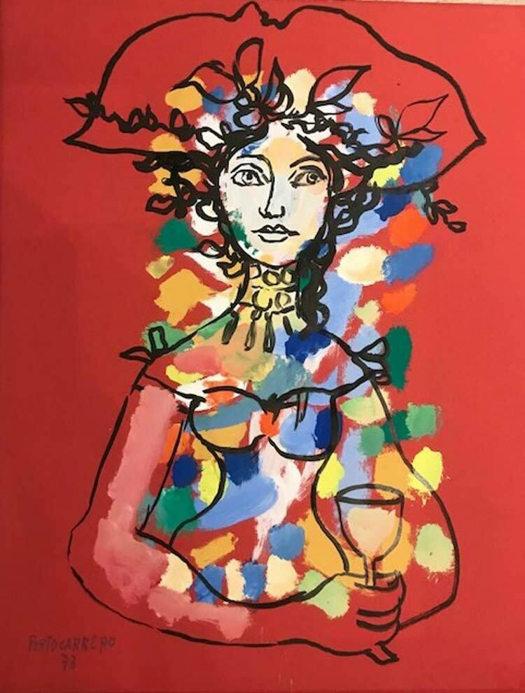 Rene PortoCarrero  - Woman With Wine Glass