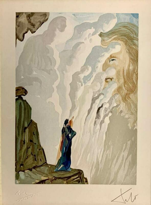 Salvador Dali - Purgatory 12, Ecstatic Visions - 2 Signature