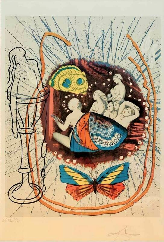 Salvador Dali - Papillon II Renaissance