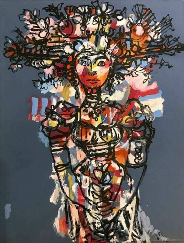 Rene PortoCarrero  - Woman With Birds Nest
