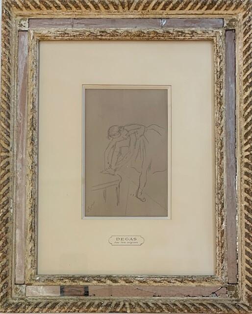Edgar Degas - Danseuse mettant son chausson