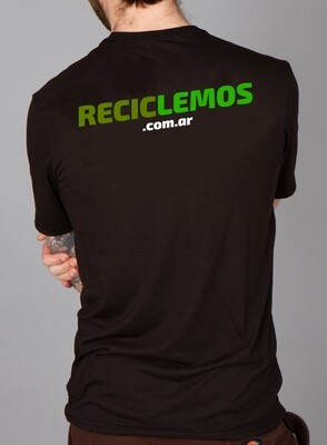 Remera Estampada RECICLEMOS 100% Algodón