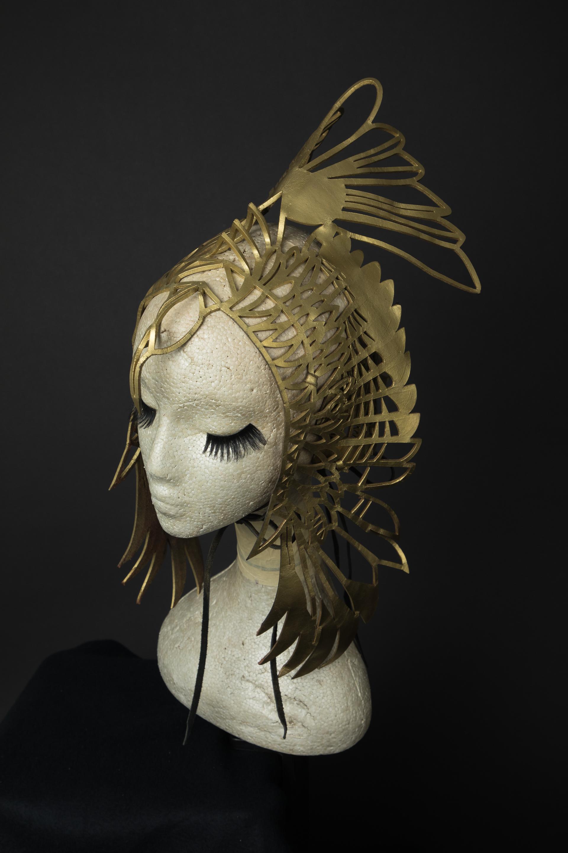 Phoenix gold leather headdress
