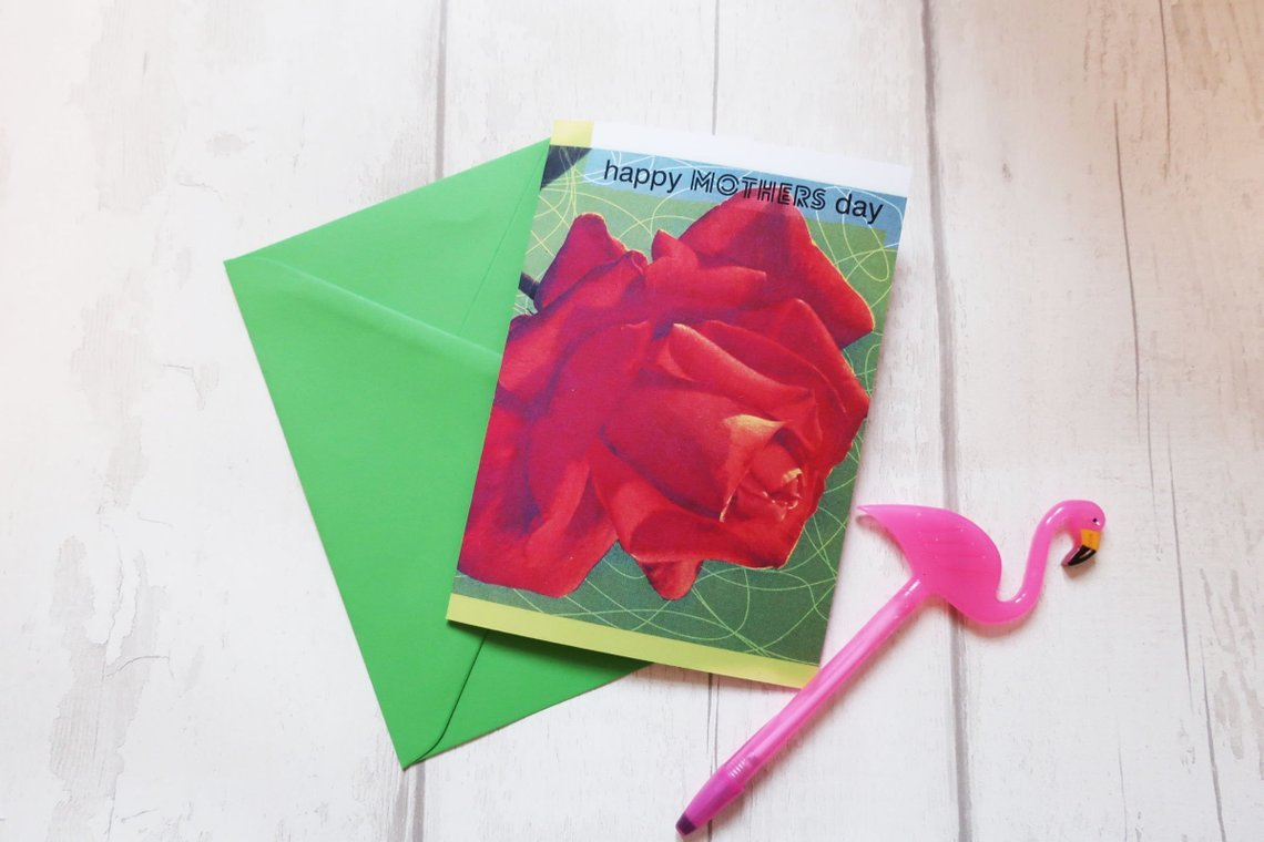 Grunge Mothers Day Card