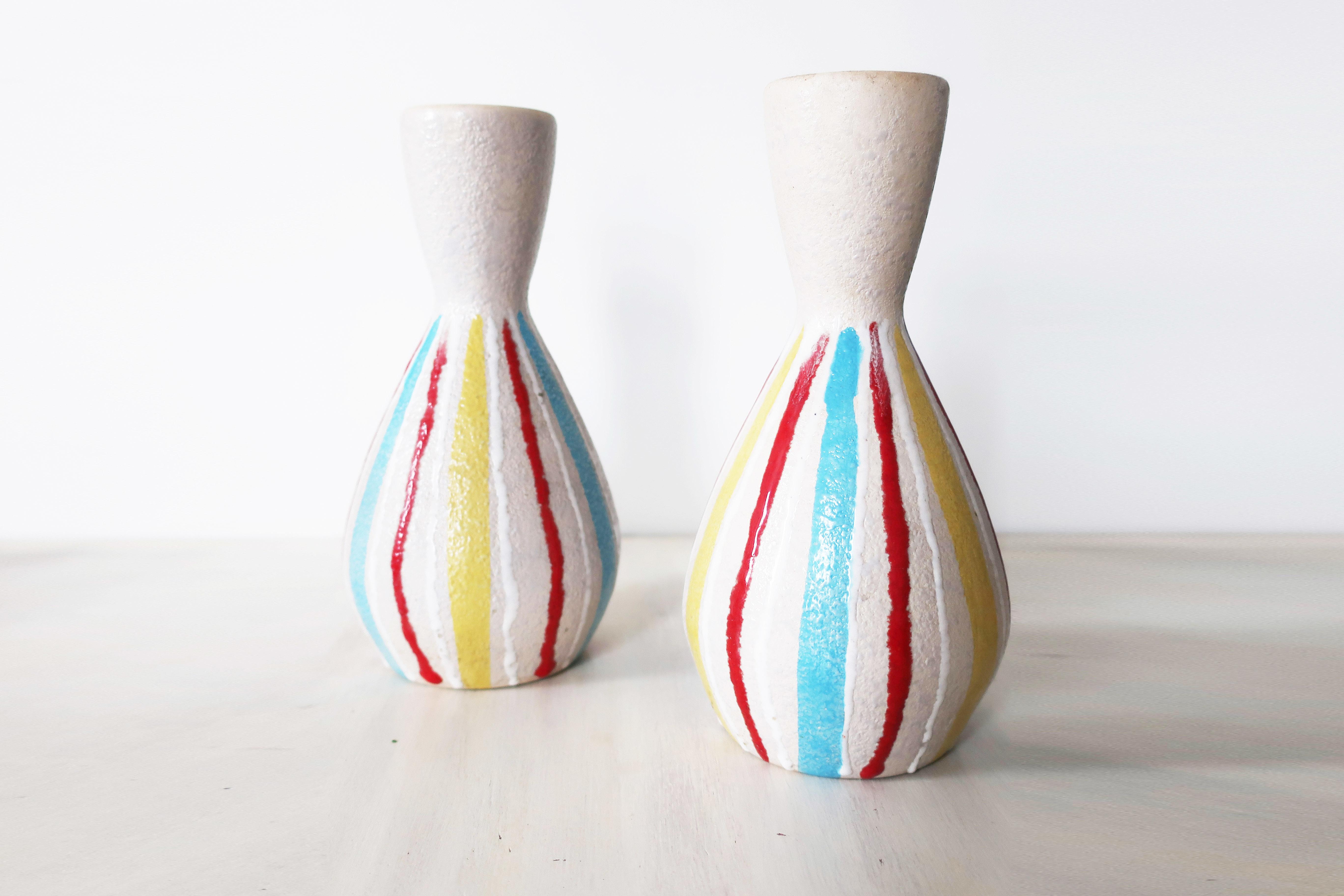 Vintage Italian Pair Vases 00010