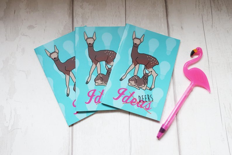 Ideas (deers) A6 notebook