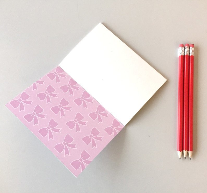 Pink poodle jotter A6 noebook
