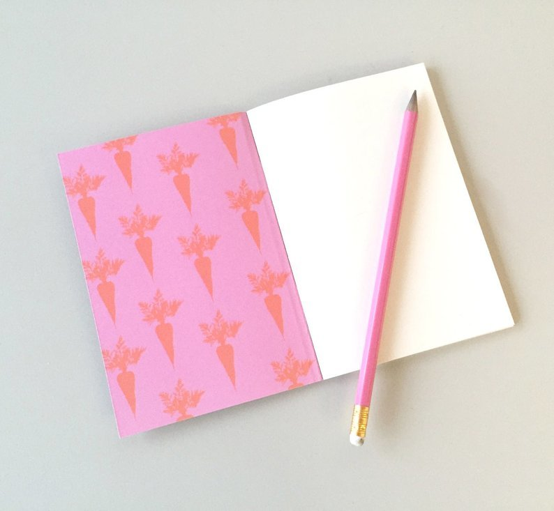 Pink bunny things to do A6 notebook