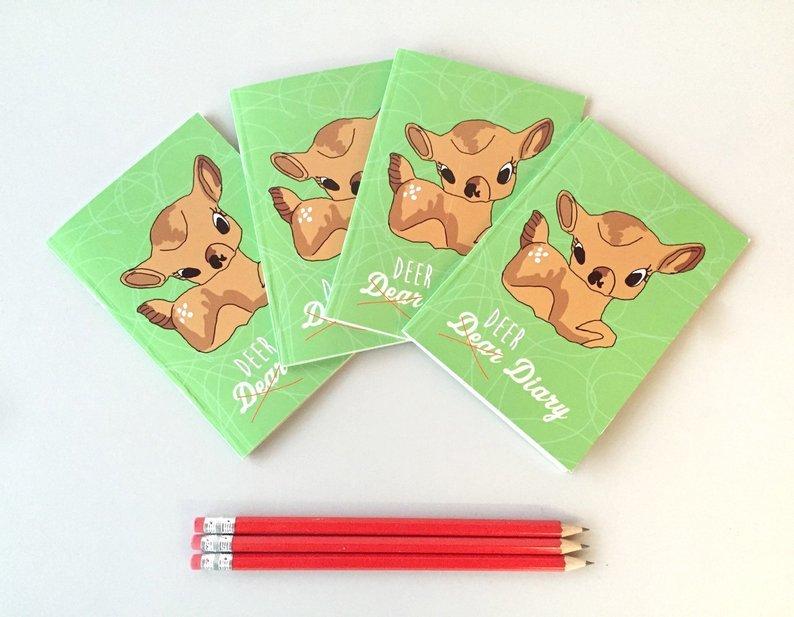 Cute Deer A6 plain notepad 00015