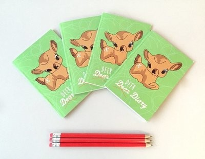 Cute Deer A6 plain notepad