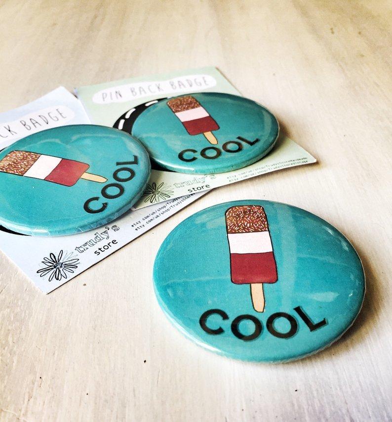 Cool lollipop badge 00027
