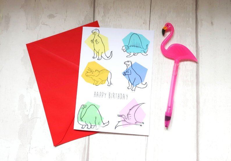 Dinosaur birthday card 00028