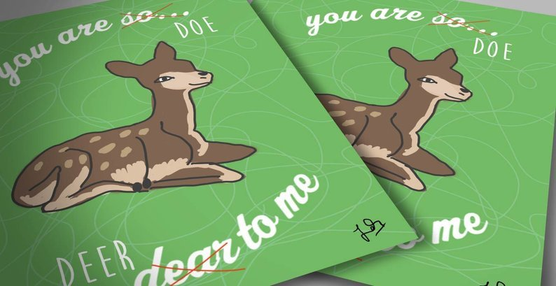 Cute deer love card