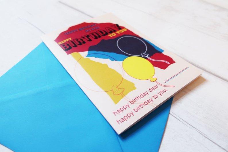 Custom yourself birthday card