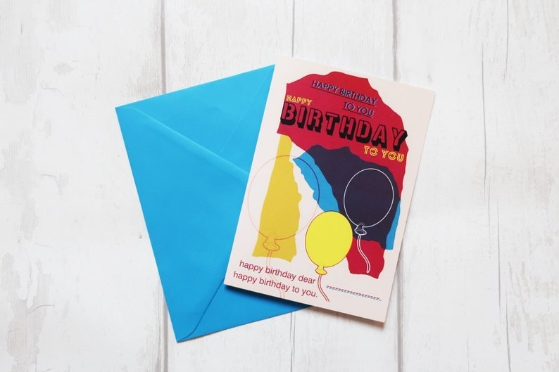 Custom yourself birthday card