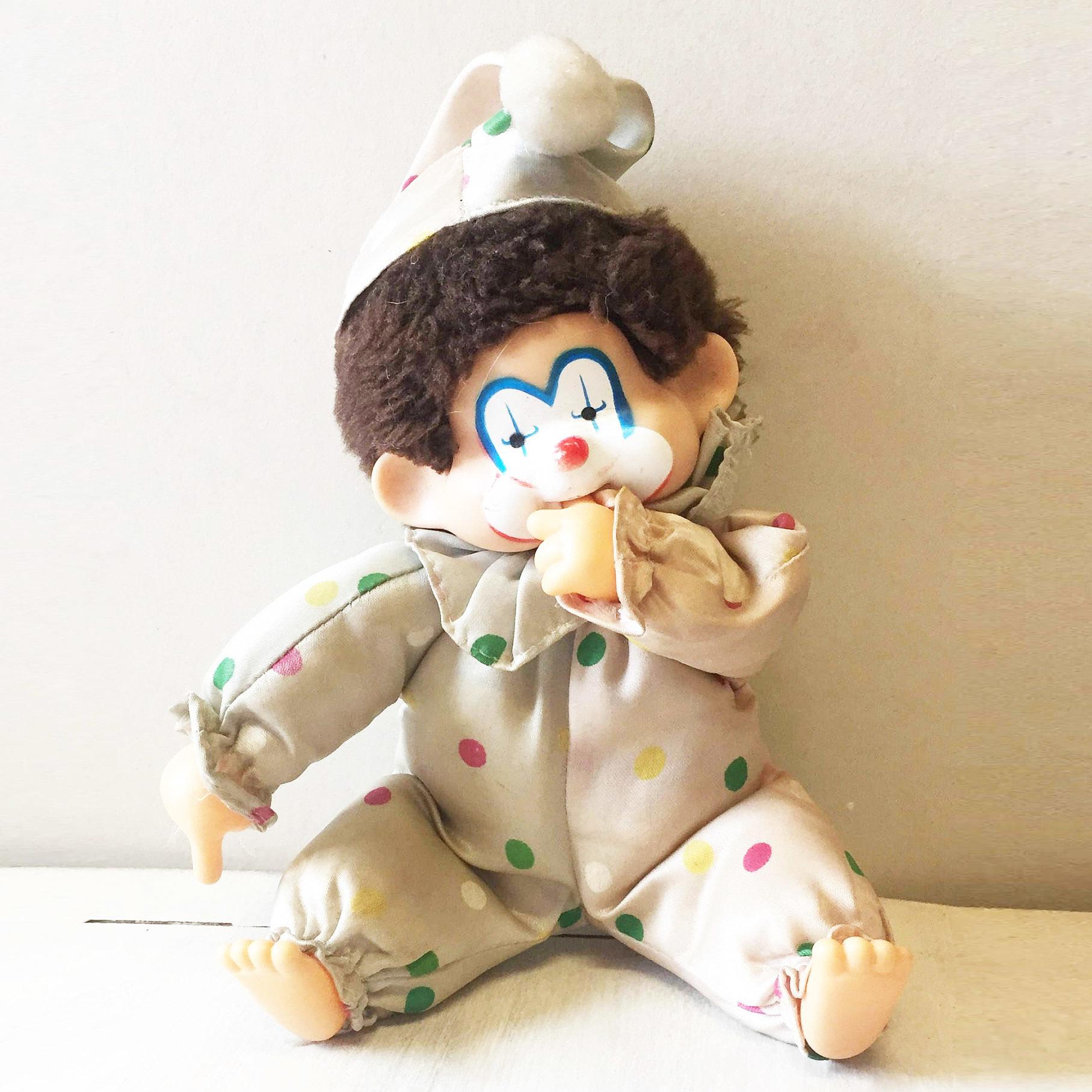 Corky clown Monchichi Monkey 00047
