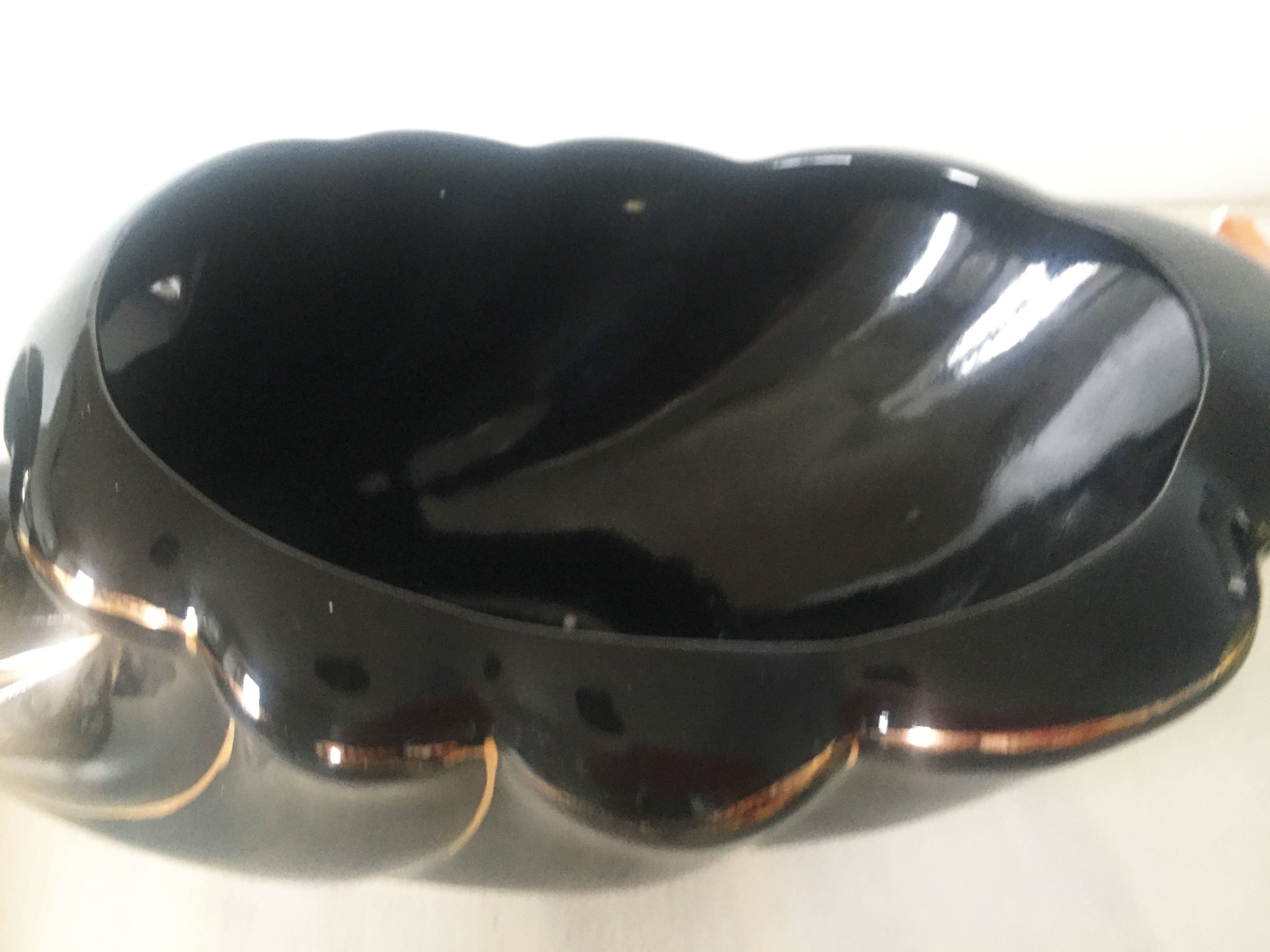 Black 80's large shell planter