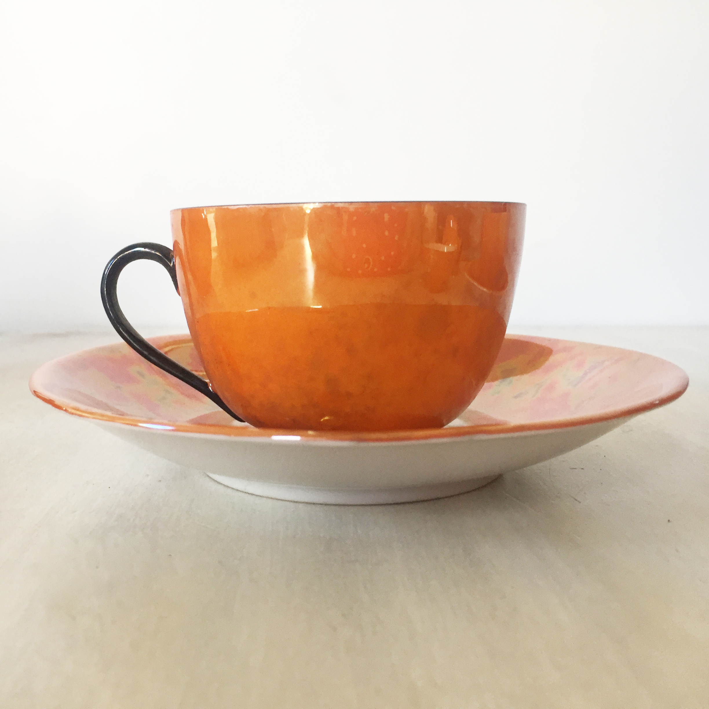 Orange Lustreware Miniature teaset