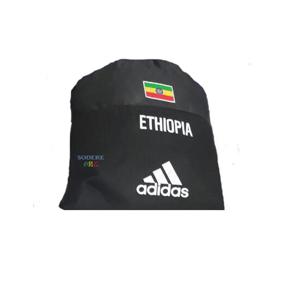 ኢትዮጲያ የሚል ጽሁፍ እና ባንዲራ ያለበት የጀርባ ቦርሳ Ethiopia Back Bag