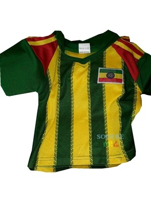 የኢትዮጵያ ማልያ ለልጆች እጅጌ ጉርድ ቲሸርት  Ethiopian National Team T-shirt for Kids