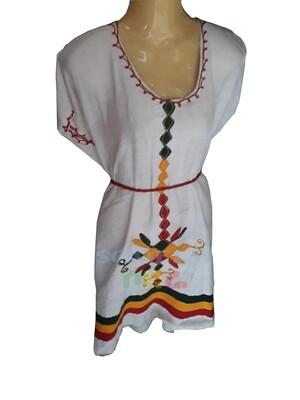 የኢትዮጲያ ባንዲራ ያለው የሴቶች አጓጎጉል ቀሚስ Ethiopian Women Dress / free size