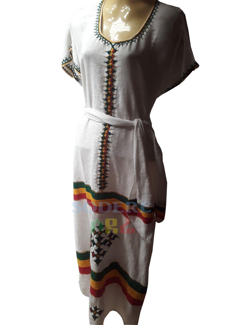 የኢትዮጲያ ባዲራ ያለው የሴቶች  ረጅም ቀሚስ Ethiopian Women Long  Dress / free size