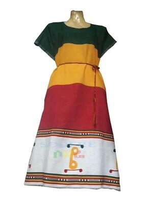 የኢትዮጵያ ባንዲራ ያለው የሴቶች አጓጉል ቀሚስ Ethiopian Women  Dress / free size