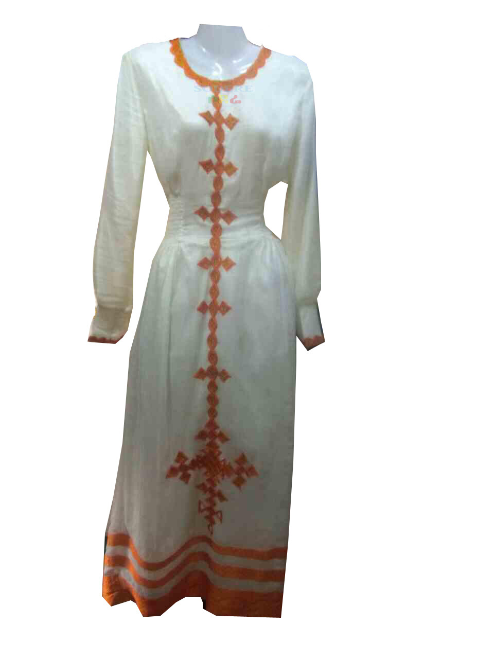 ረዘም ያለ የሀበሻ ቀሚስ / Ethiopian Traditional Long Dress