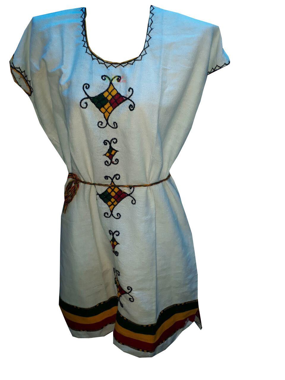 አጓጉል የሀበሻ ልብስ Ethiopian Traditional Midi Dress