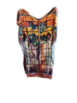 የሴቶች አላባሽ   የዓለም ሎሬት ሜትር አርቲስት አፈወርቅ ተክሌ ስእል ያለበት | Women T-shirt / free size